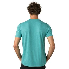 Prana T-shirt manches longues à col ras-du-cou Homme, azurite heather